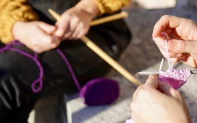 Lavorare a maglia per la salute e il benessere